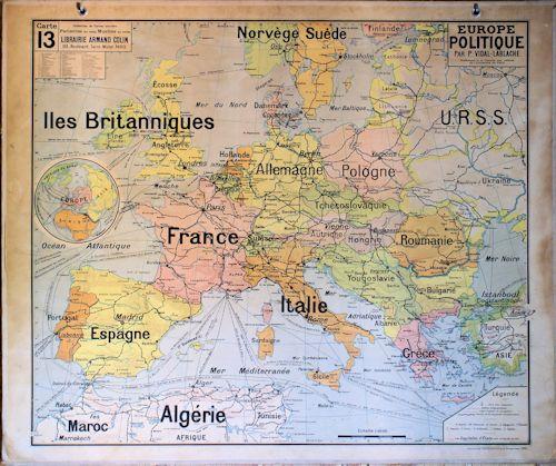carte europe ecole primaire